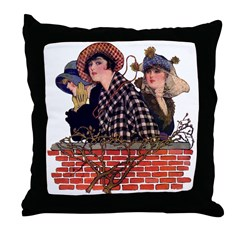 Mod Trio (1915) Throw Pillow