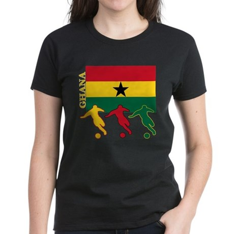 Ghana Soccer Women's Dark T-Shirt