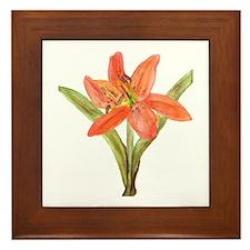 Tiger Lily Framed Tile