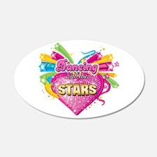 Dancing with the Stars 22x14 Oval Wall Peel