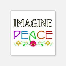 Imagine Peace Sticker