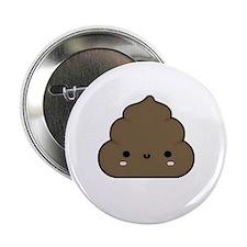 "Smiley poop :) 2.25"" Button"