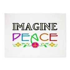 Imagine Peace 5'x7'Area Rug