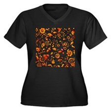 Golden Onion Women's Plus Size V-Neck Dark T-Shirt
