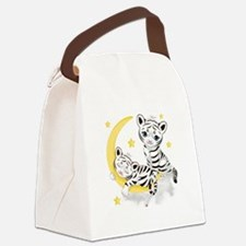 White Tigers - Canvas Lunch Bag