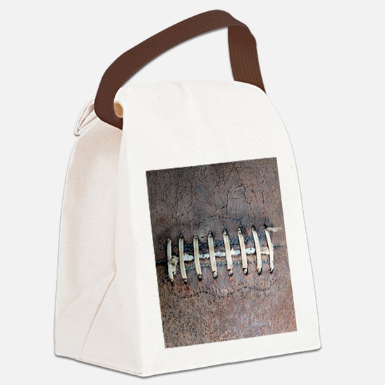 Cute Football Canvas Lunch Bag