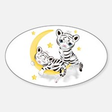 White Tigers - Sticker (oval)