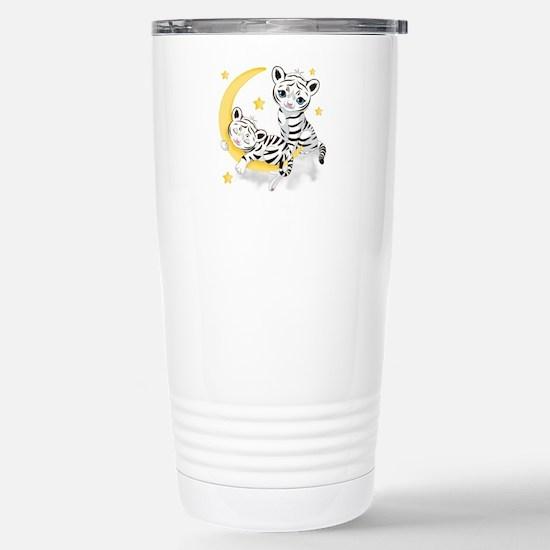 White Tigers - Stainless Steel Travel Mug