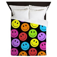 Cute Smileys Queen Duvet