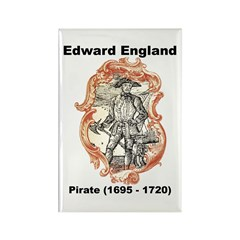 Edward England Pirate Rectangle Magnet (10 pack)