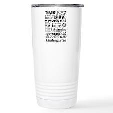 Kindergarten Teacher qu Travel Mug