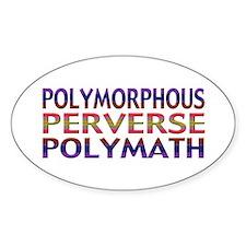 Polymorphous Perverse Polymath Oval Decal