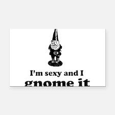 I'm sexy and I gnome Rectangle Car Magnet