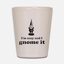 I'm sexy and I gnome Shot Glass