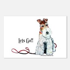 Fox Terrier Walk Postcards (Package of 8)