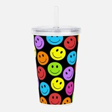 Unique Smile faces Acrylic Double-wall Tumbler