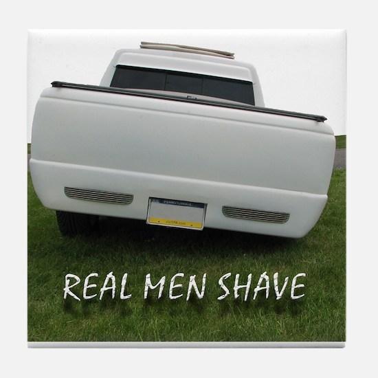 Real Men Shave Tile Coaster