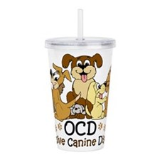 Cute Dog Acrylic Double-wall Tumbler