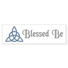 Blessed Be Blue Bumper Bumper Sticker