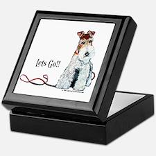 Fox Terrier Walk Keepsake Box