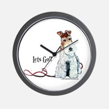 Fox Terrier Walk Wall Clock