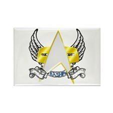 Star Trek Bashir Tattoo Rectangle Magnet