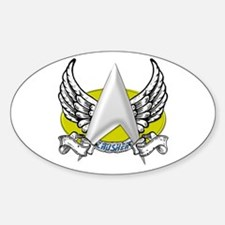Star Trek Crusher Tattoo Sticker (Oval)