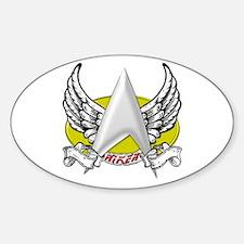 Star Trek Riker Tattoo Sticker (Oval)