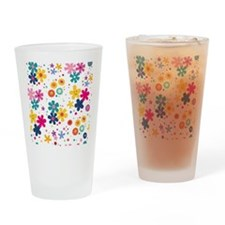 Cute A smiley face girl Drinking Glass
