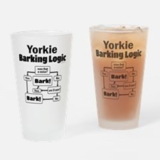 Yorkie Logic Drinking Glass
