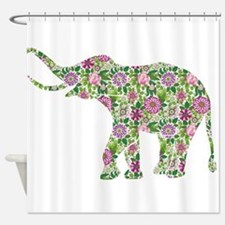 Funny Pink elephant Shower Curtain