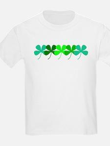 Irish 4 Leaf Clovers Designer T-Shirt