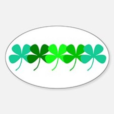 Irish 4 Leaf Clovers Designer Decal