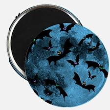 Bats Flying in Blue Moon Magnet