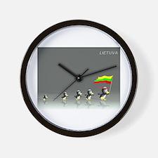Funny Lietuva Wall Clock