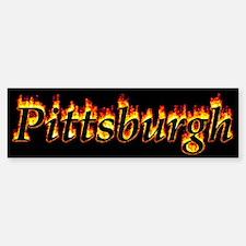Pittsburgh Flame Bumper Bumper Bumper Sticker