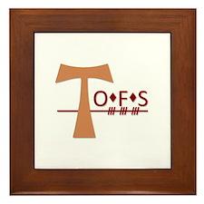 OFS Secular Franciscan Order Framed Tile