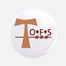"OFS Secular Franciscan Order 3.5"" Button"