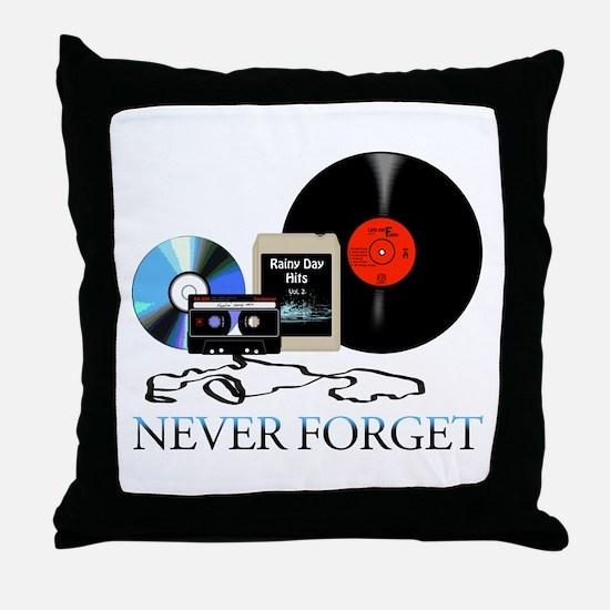 never-4 Throw Pillow