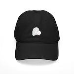Fantail White Pigeon Baseball Hat Black Cap