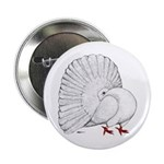 """Fantail White Pigeon 2.25"""" Button (100 Pack)"""