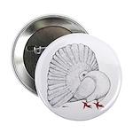 "Fantail White Pigeon 2.25"" Button"