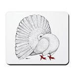 Fantail White Pigeon Mousepad