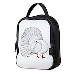 Fantail White Pigeon Neoprene Lunch Bag