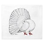 Fantail White Pigeon King Duvet