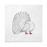 Fantail White Pigeon Queen Duvet