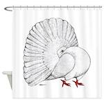 Fantail White Pigeon Shower Curtain