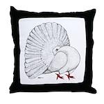 Fantail White Pigeon Throw Pillow