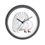 Fantail White Pigeon Wall Clock