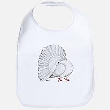 Fantail White Pigeon Bib